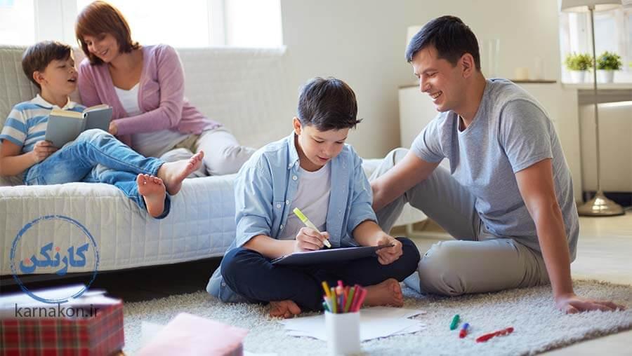 وراثت هوش در کنار والدین در دسترس به هوش کودک کمک میکنند.