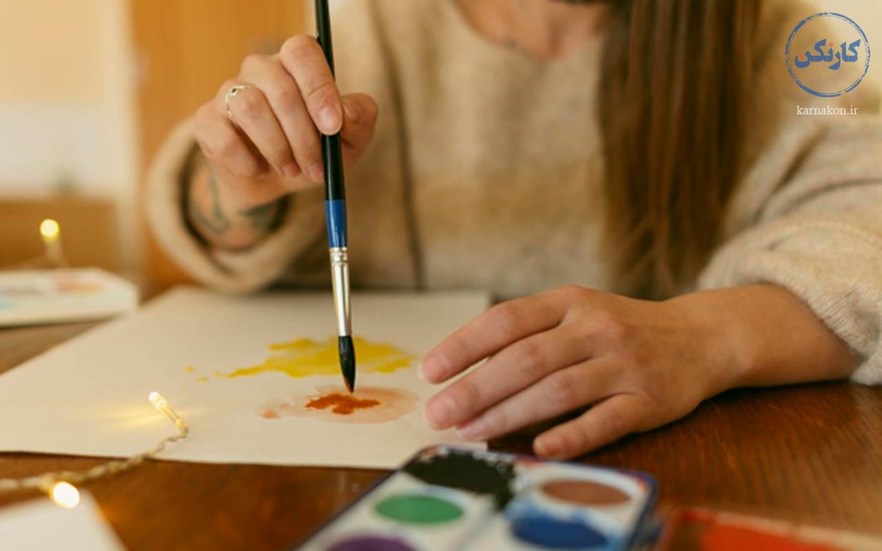 نقاشی - کار های خلاقانه دخترانه در خانه