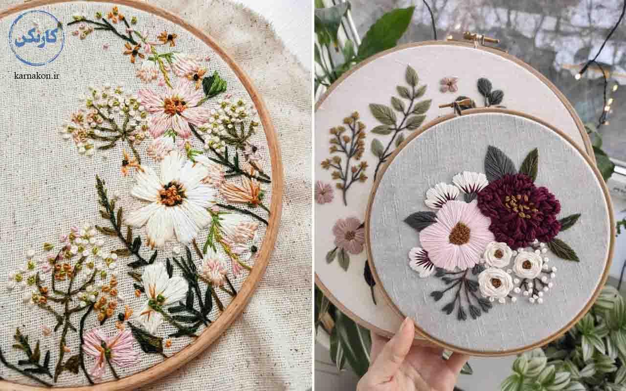 گلدوزی - کار های هنری در خانه دخترانه