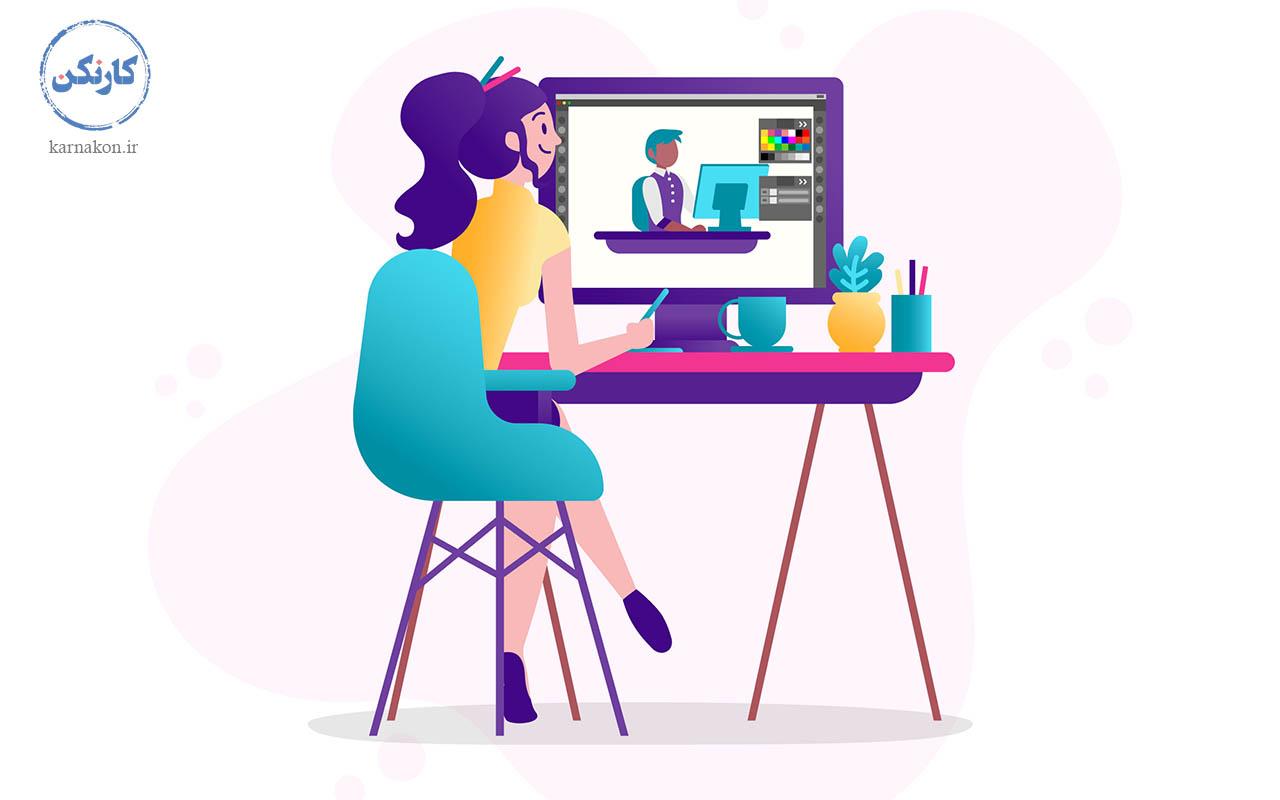 طراحی گرافیک - گرافیست - ایجاد شغل با سرمایه کم برای خانمها