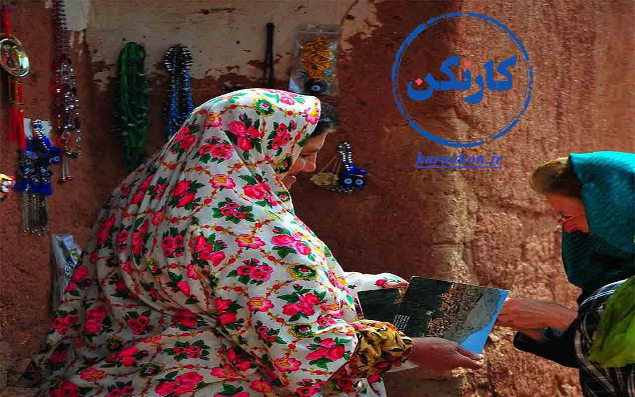 فروش محصولات مرتبط با فرهنگ و هنر هر منطقه روستایی یا عشایری - کمک به اشتغالزایی و کسب درآمد زنان روستایی