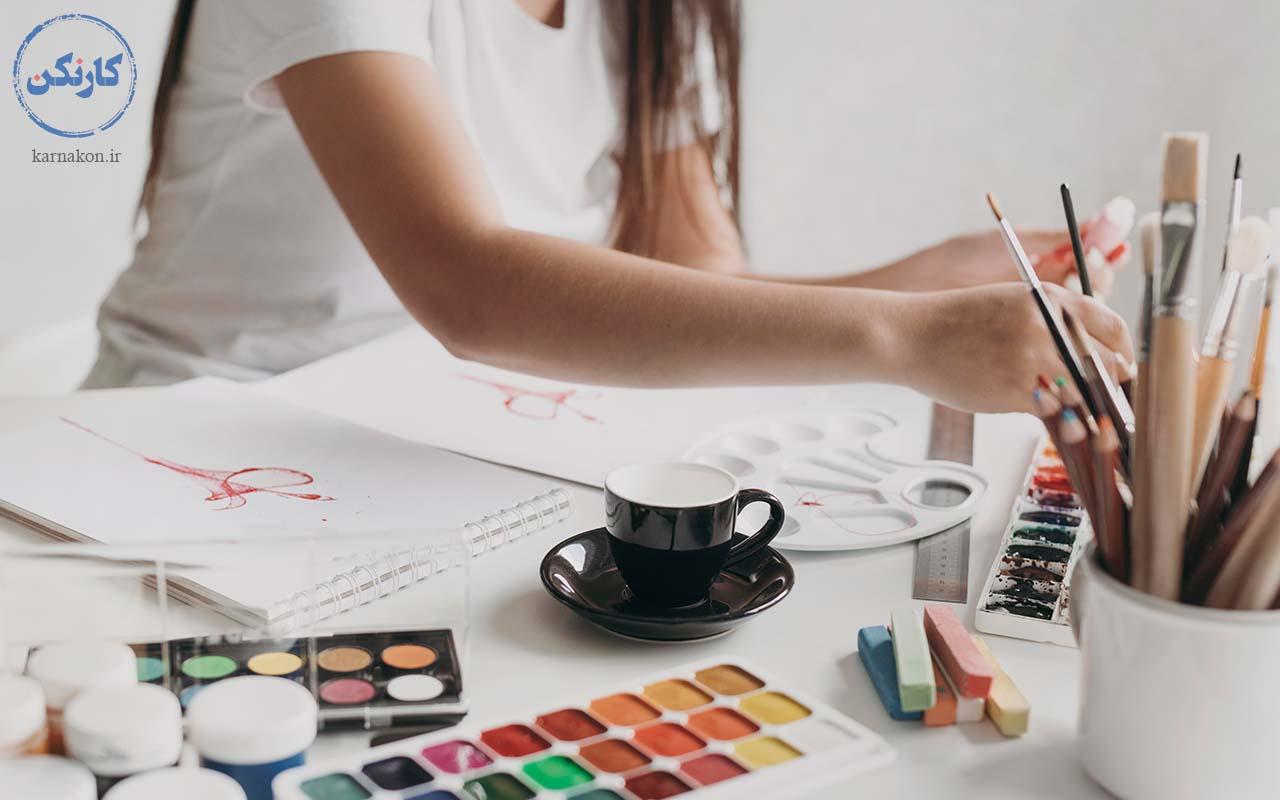 نقاشی - کارآفرینی با سرمایه کم برای بانوان