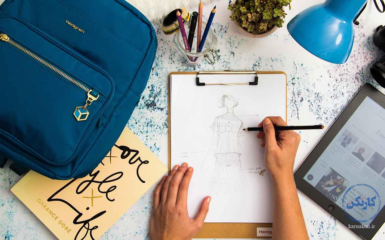 طراحی لباس - انواع شغل با سرمایه کم برای خانمها