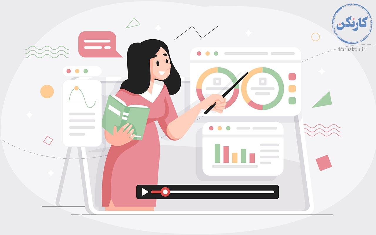تدریس آنلاین و حضوری - ایجاد شغل با سرمایه کم برای خانمها