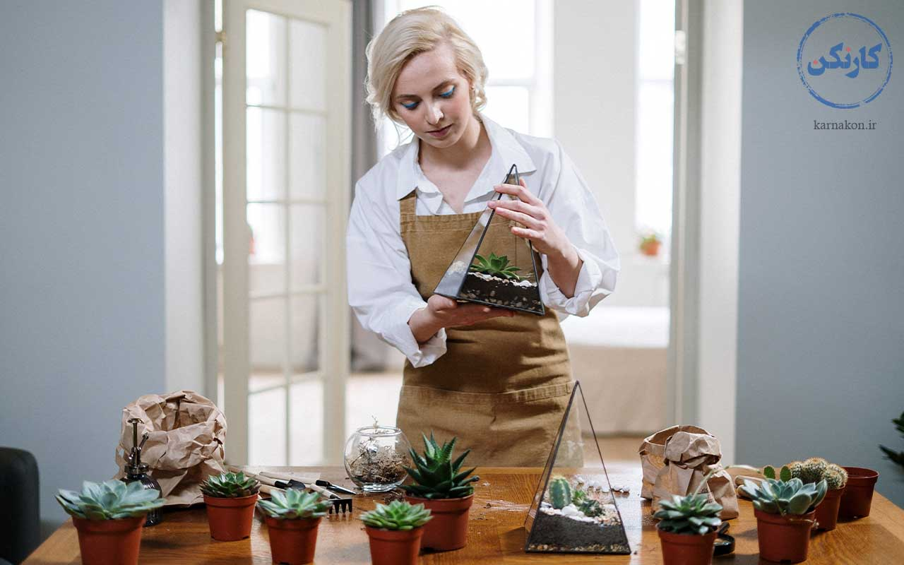 تراریوم - ساخت تراریوم - شغل مناسب با سرمایه کم برای خانمها