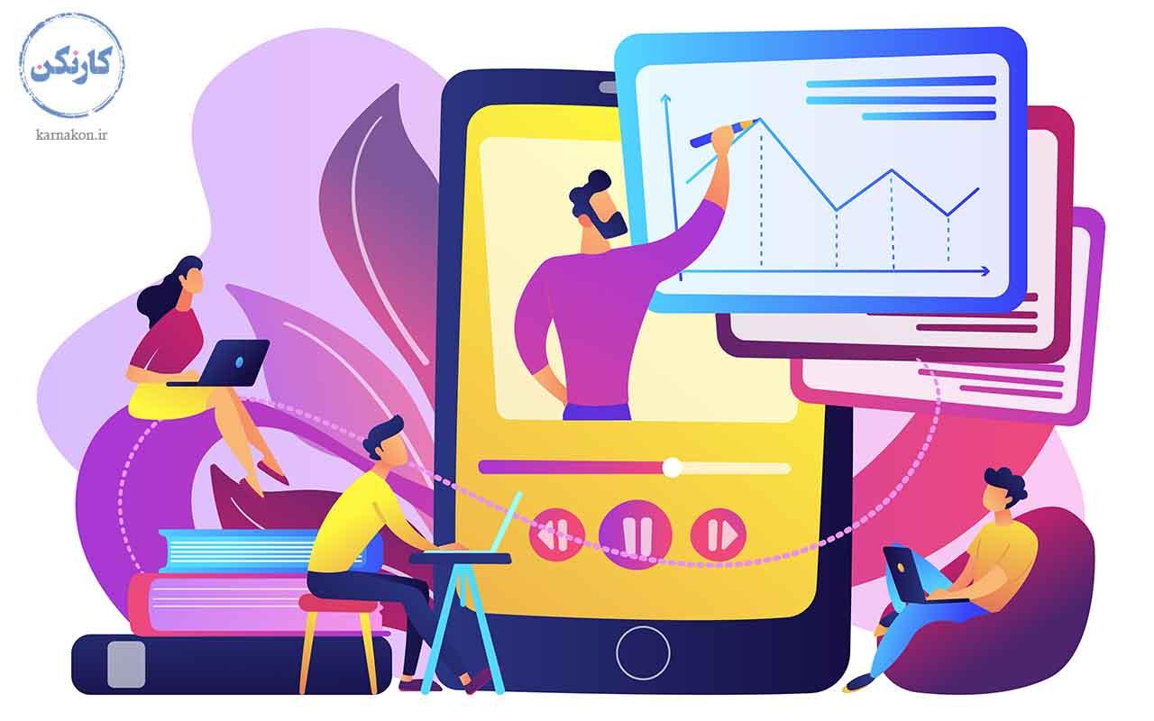 تدریس آنلاین - کسب و کار اینترنتی در منزل