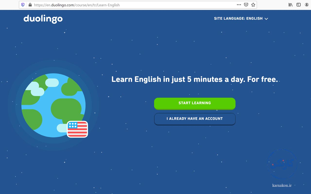 سایت Duolingo - دفتر برنامه ریزی زبان