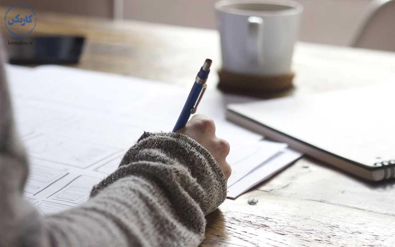نوشتن - تکنیک یادگیری زبان