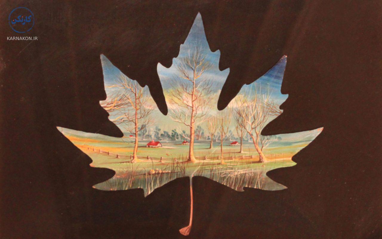 چگونه با هنر نقاشی پولدار شویم ؟  با نقاشی روی برگ