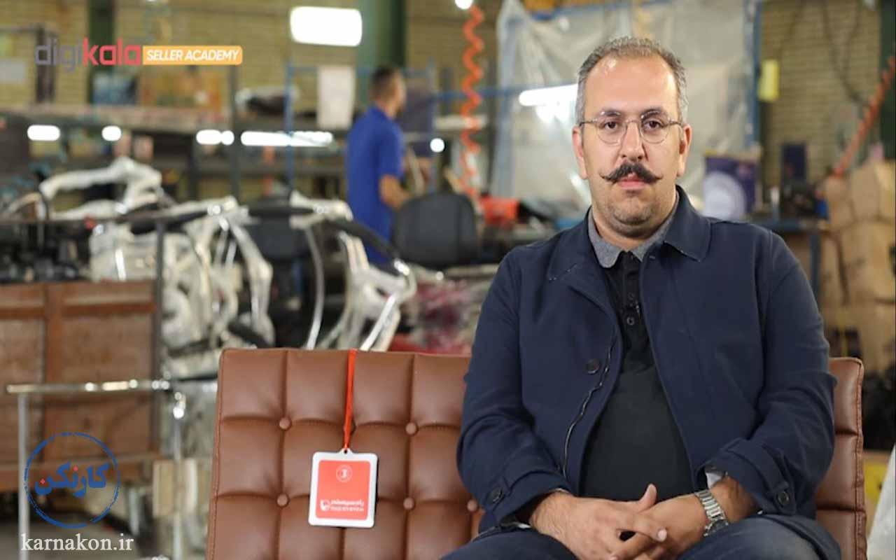 تجربه فروش در دیجی کالا با تولید صندلی و مبلمان اداری