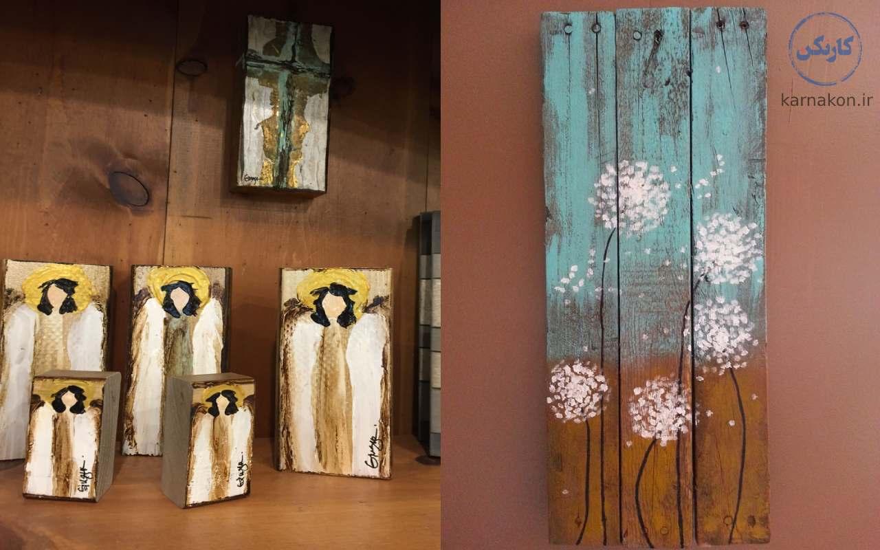 نقاشی روی چوب یک نقاشی پولساز است.