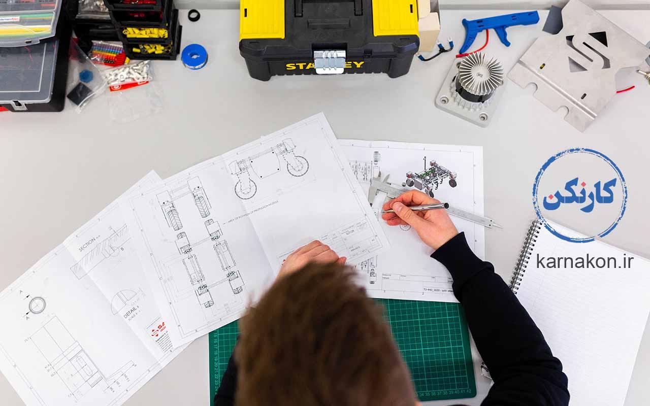 لیست شغل های رشته ریاضی فیزیک - مهندسی مکانیک