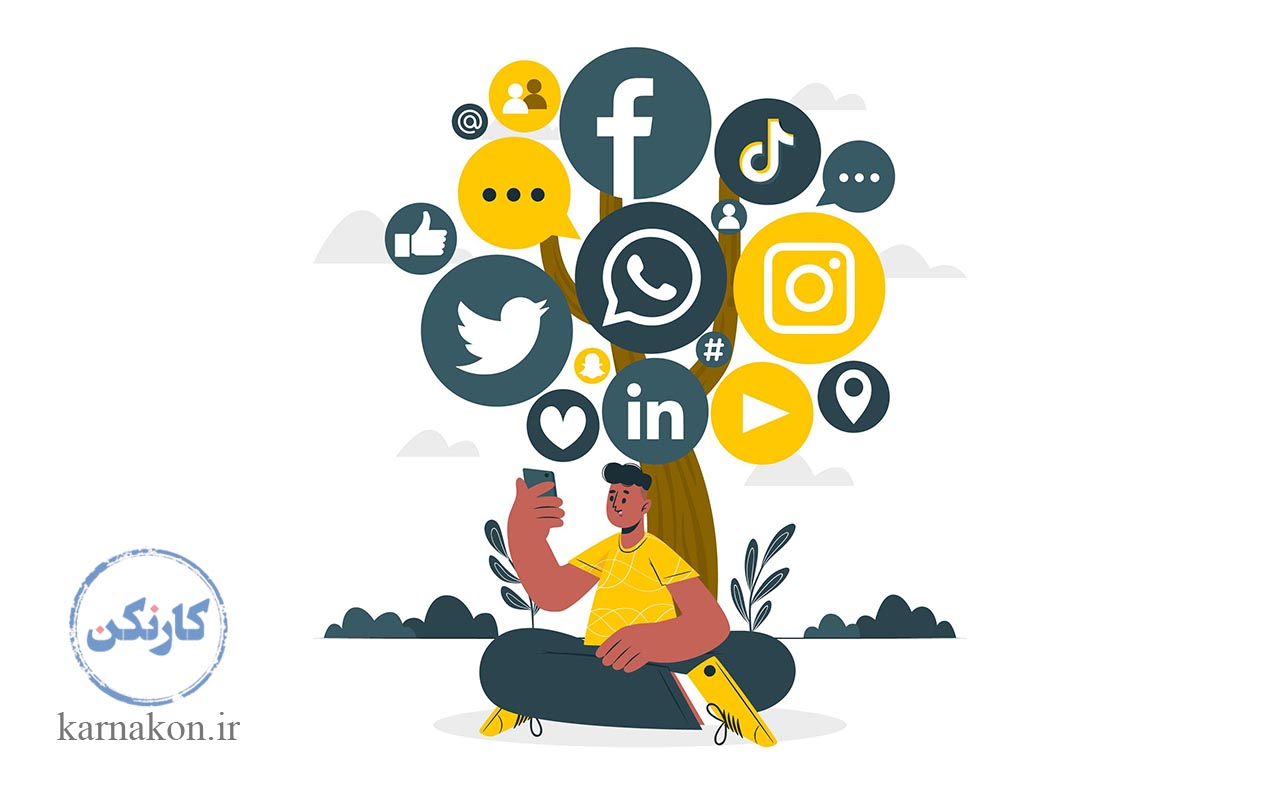 شبکه های اجتماعی مثل اینستاگرام و تلگرام و ... بر رشد دورکاری معادل فارسی فریلنسر تأثیر بسزایی دارند.