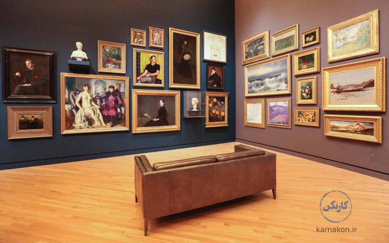 درآمد گالری نقاشی نسبتاً خوب است.
