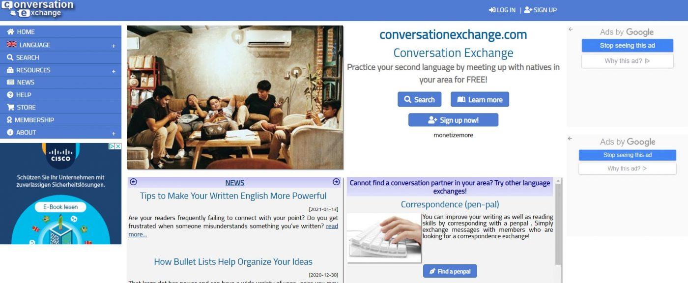تقویت مهارت speaking همراه با سایت های خارجی با پیدا کردن افراد مختلف برای صحبت کردن یادگیری انگلیسی با صحبت کردن  بهترین راه تقویت اسپیکینگ استفاده از سایت conversation exchange است.