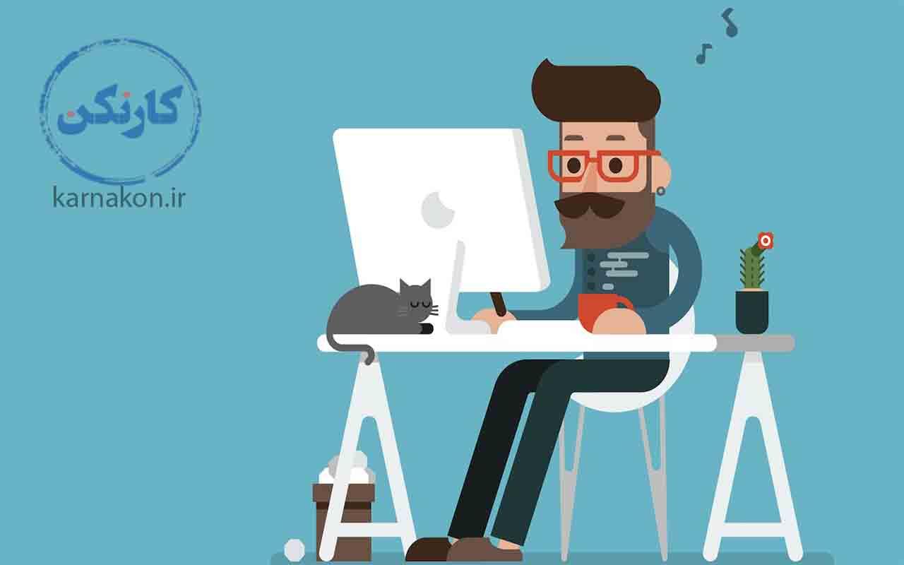 برای تحقیق در مورد فریلنسر و آشنایی با مفهوم فریلنسر پشت لپتاپ نشسته و در اینترنت سرچ کنید تا بفهمید فریلنسر کیست